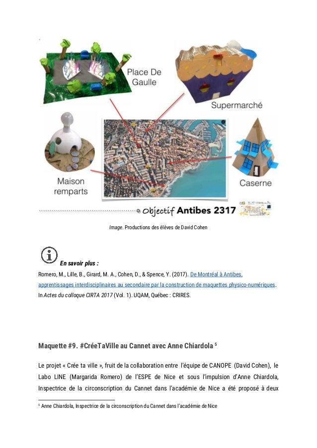 Image. Productions des élèves de David Cohen  En savoir plus : Romero, M., Lille, B., Girard, M. A., Cohen, D., ...