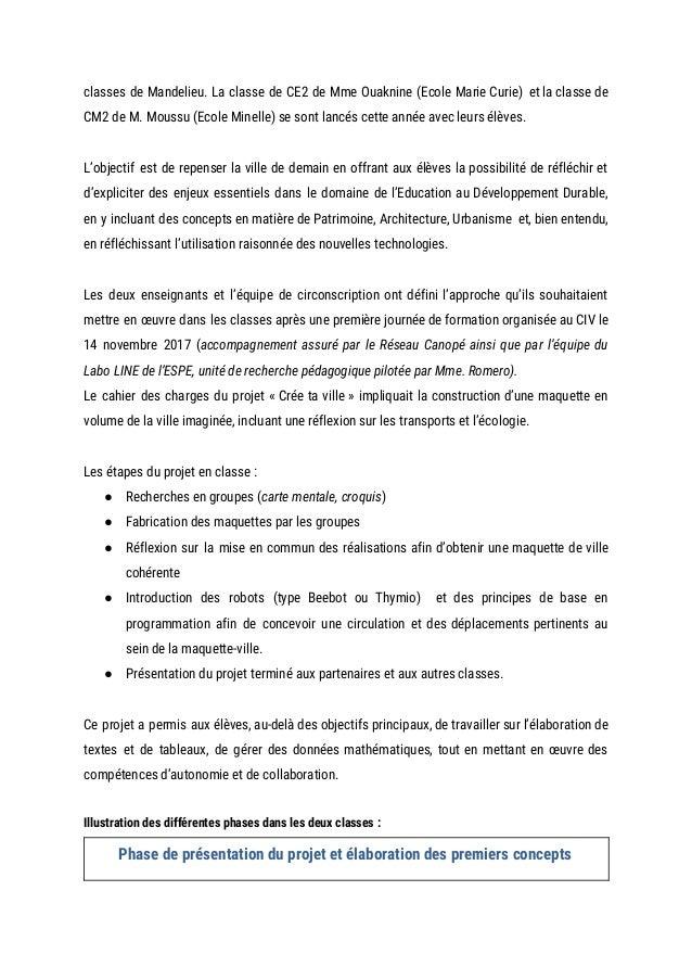 classes de Mandelieu. La classe de CE2 de Mme Ouaknine (Ecole Marie Curie) et la classe de               ...