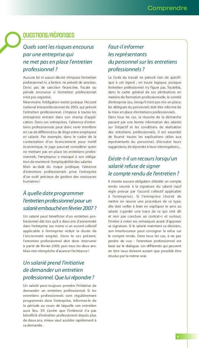Guide entretien professionnel opcalia 2014 - Modele grille evaluation entretien annuel ...