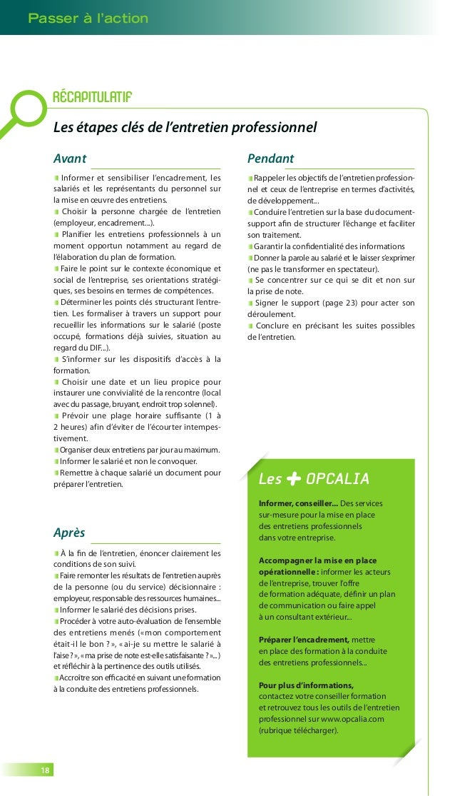 Guide entretien professionnel - Opcalia - 2014