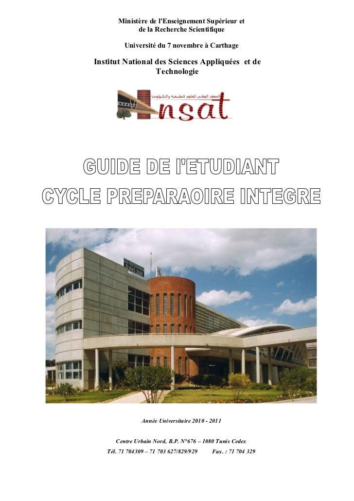 Ministère de lEnseignement Supérieur et             de la Recherche Scientifique         Université du 7 novembre à Cartha...