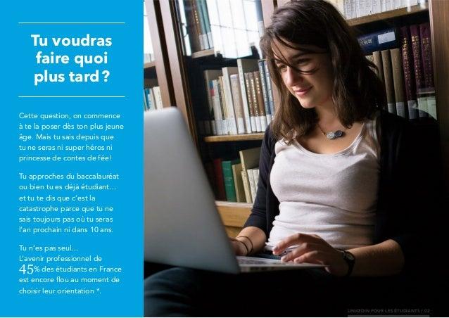 LinkedIn pour les étudiants Slide 2