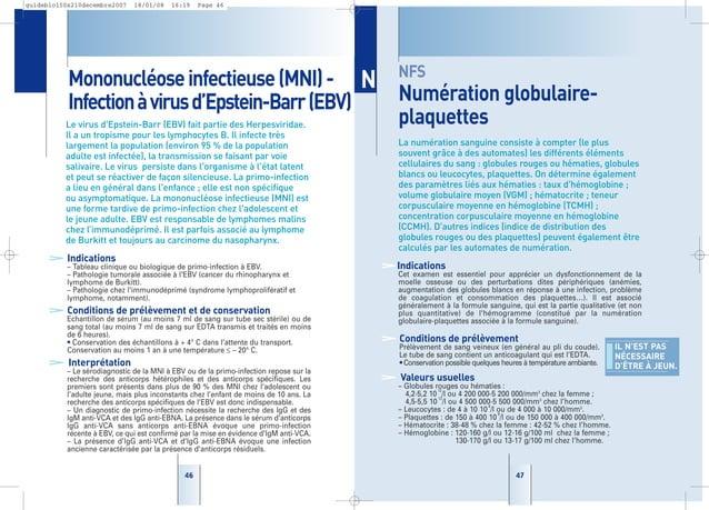 4747 NFS Numération globulaire- plaquettes La numération sanguine consiste à compter (le plus souvent grâce à des automate...