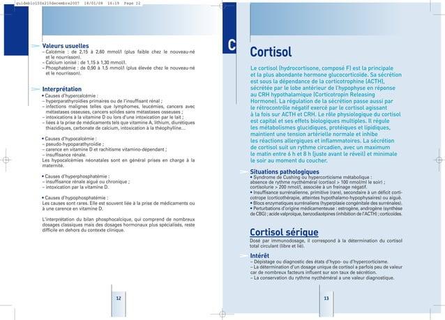 1313 Cortisol Le cortisol (hydrocortisone, composé F) est la principale et la plus abondante hormone glucocorticoïde. Sa s...