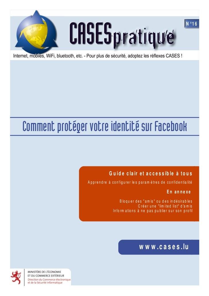 N°16Com m ent protéger votre identité sur Facebook                            Guide cl e tacce s s ibl à t                ...