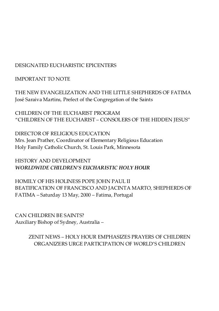 Sample Letter For First Holy Communion