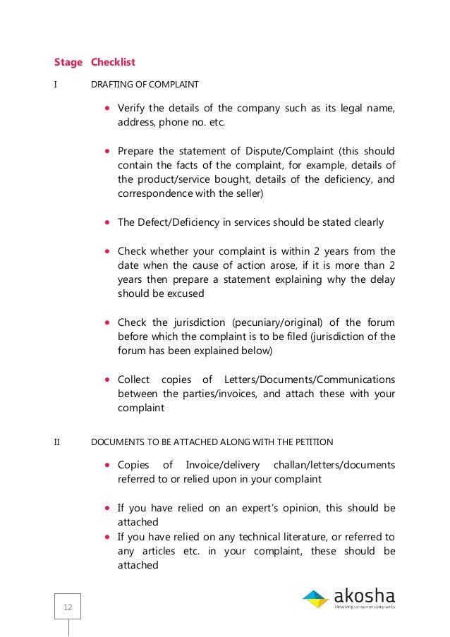 Guide for consumer court akosha complaint 12 spiritdancerdesigns Images