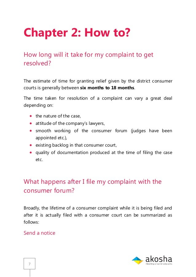 Guide For Consumer Court