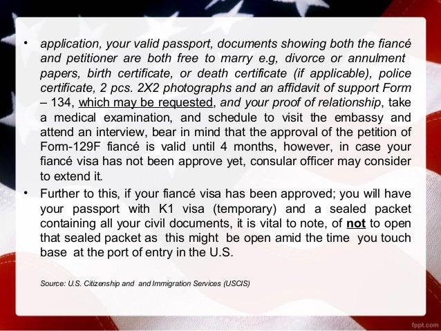 Applying for a fiance visa usa