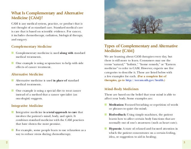 Dr Dev Kambhampati | NIH- Guide for people with Cancer- Complementary & Alternative Medicine Slide 3