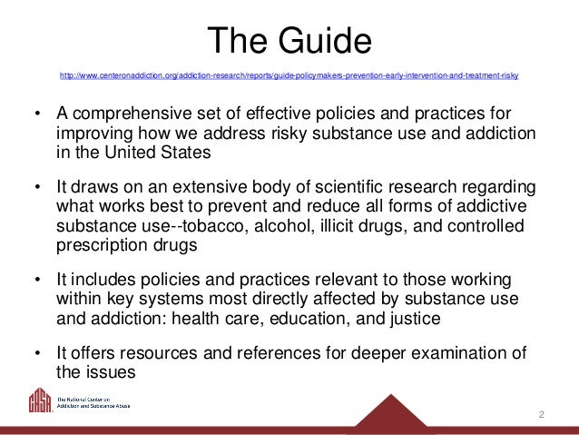 Guide for Policymakers: Prevention, Early Intervention And
