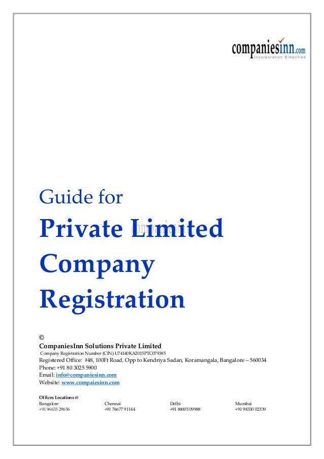 after incorporation of private limited company