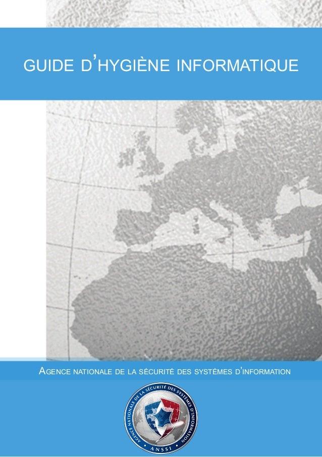 guide d'hygiène informatique  Agence nationale de la sécurité des systèmes d'information