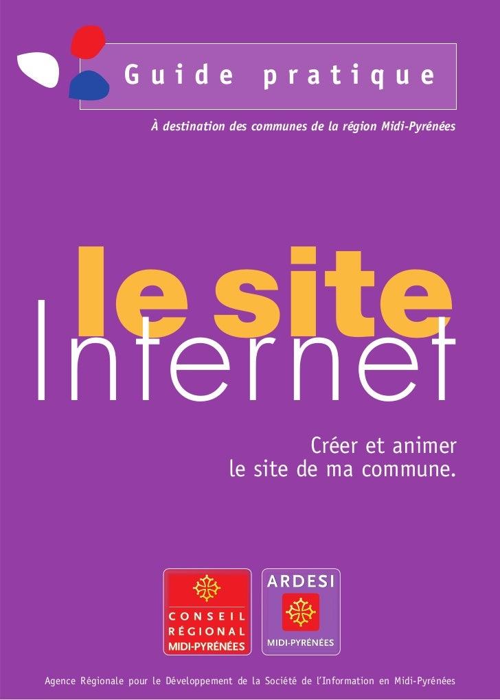 Guide                        pratique                      À destination des communes de la région Midi-Pyrénées     le si...