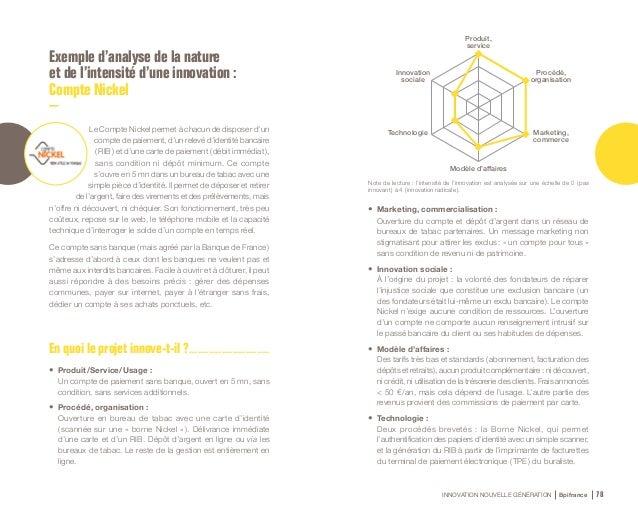 INNOVATION NOUVELLE GÉNÉRATION Bpifrance 80 2.2 Les 6 typologies d'innovation 1. Innovation de produit, de service, d'usag...