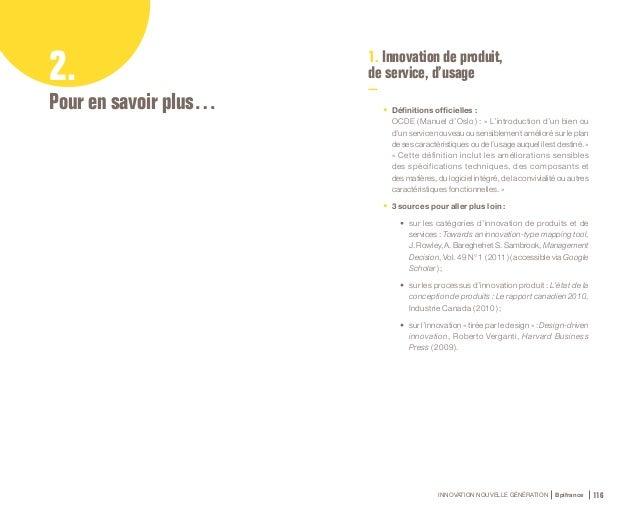 INNOVATION NOUVELLE GÉNÉRATION Bpifrance 118 2. Innovation de procédé et d'organisation 3. Innovation marketing et commerc...