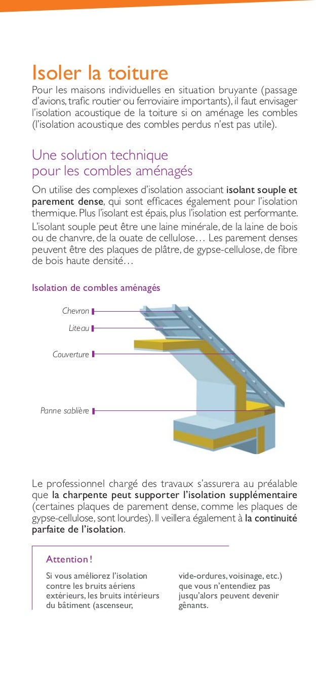 Guide isoler son logement du bruit ademe for Isolation contre le bruit