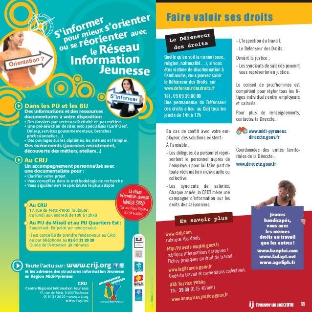 Le Guide Des Jobs En Midi Pyrenees Edition 2016