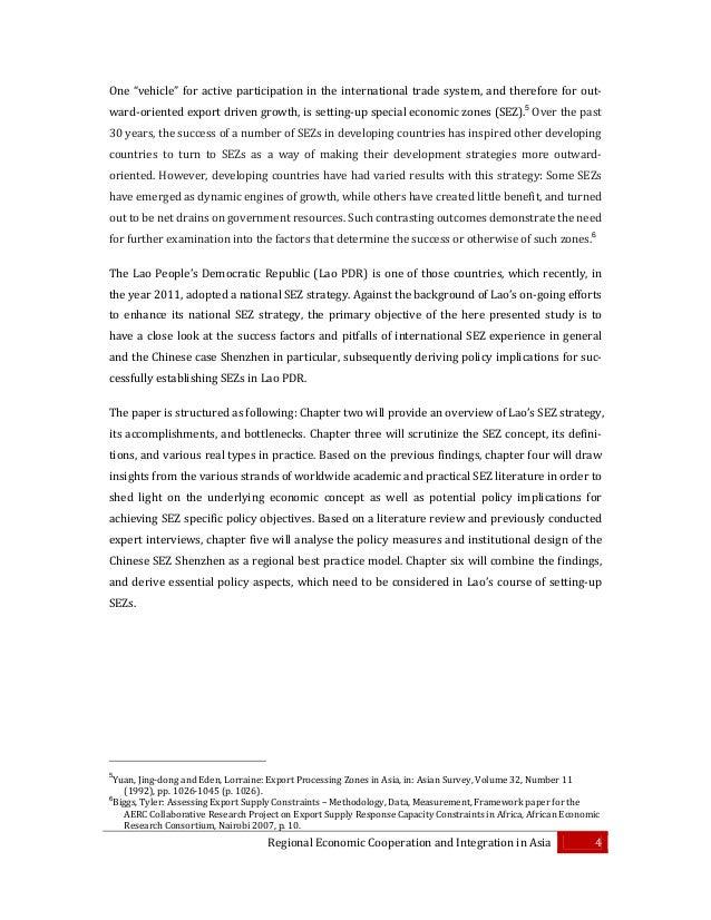 Literature review on regional economic corridor