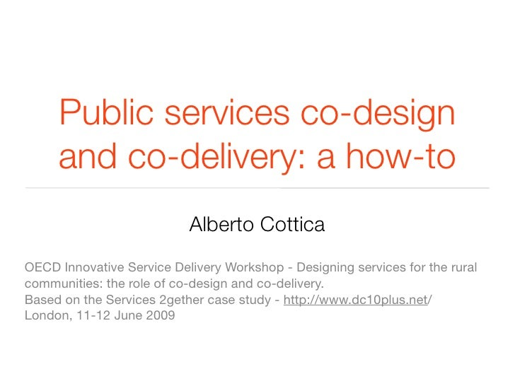 Public services co-design and co-delivery: a how-to