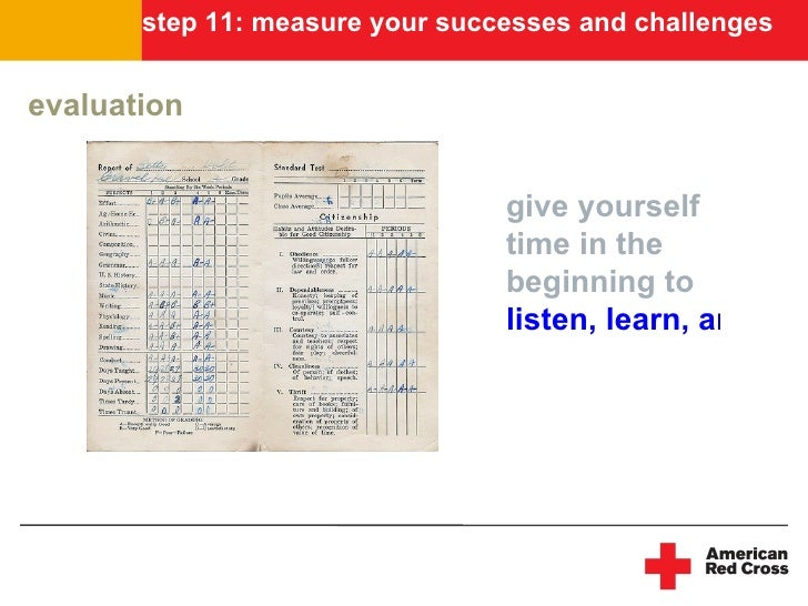 step 11: measure your successes and challenges   evaluation                                    give yourself              ...