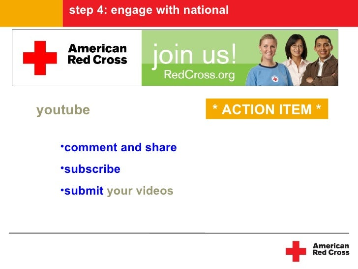 step 4: engage with national     youtube                      * ACTION ITEM *     •comment and share    •subscribe    •sub...