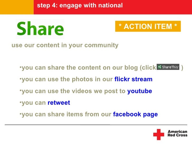 step 4: engage with national                                       * ACTION ITEM *  use our content in your community     ...
