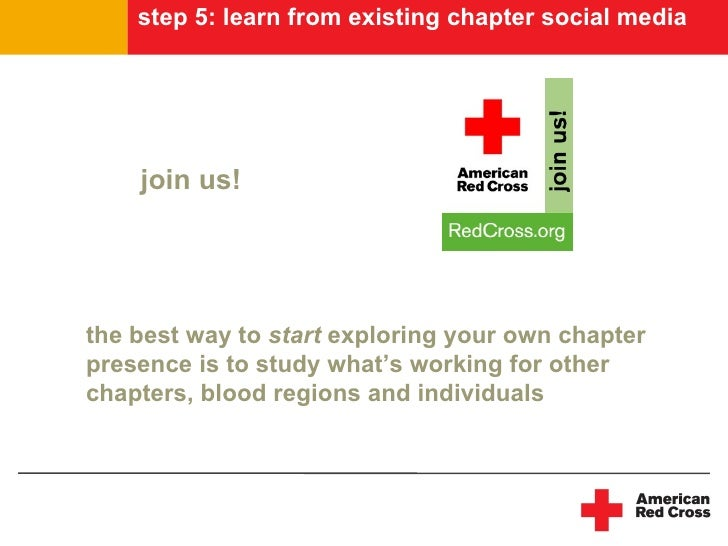 step 5: learn from existing chapter social media         join us!     the best way to start exploring your own chapter pre...