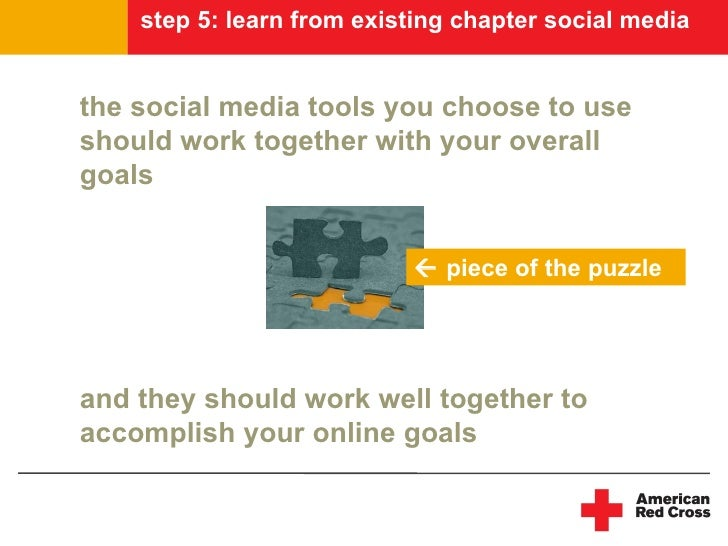step 5: learn from existing chapter social media   the social media tools you choose to use should work together with your...