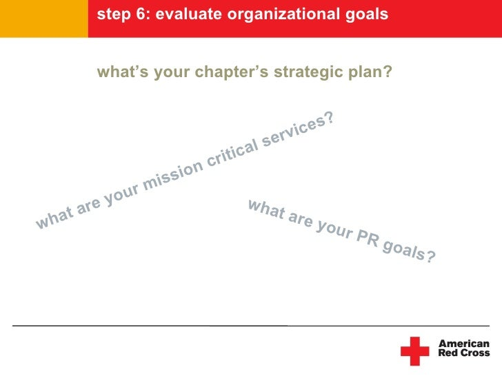 step 6: evaluate organizational goals             what's your chapter's strategic plan?                                   ...