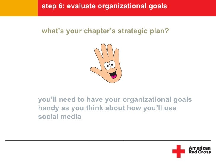 step 6: evaluate organizational goals    what's your chapter's strategic plan?     you'll need to have your organizational...