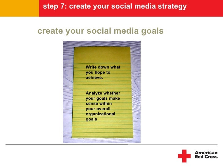 step 7: create your social media strategy   create your social media goals                 Write down what              yo...