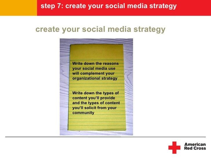 step 7: create your social media strategy   create your social media strategy              Write down the reasons         ...