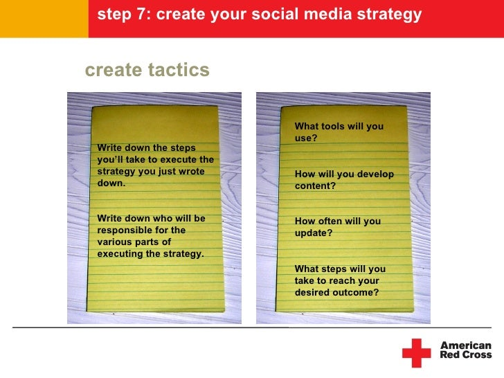 step 7: create your social media strategy   create tactics                                What tools will you             ...