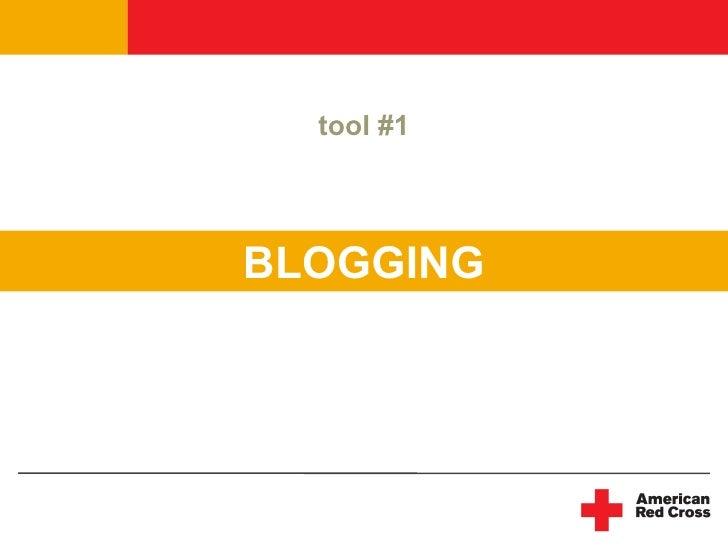 tool #1     BLOGGING