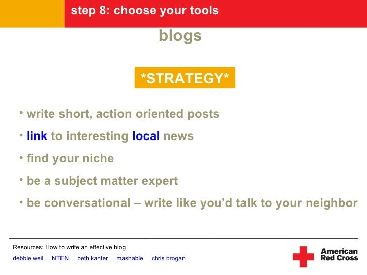 step 8: choose your tools                                                    blogs                                        ...