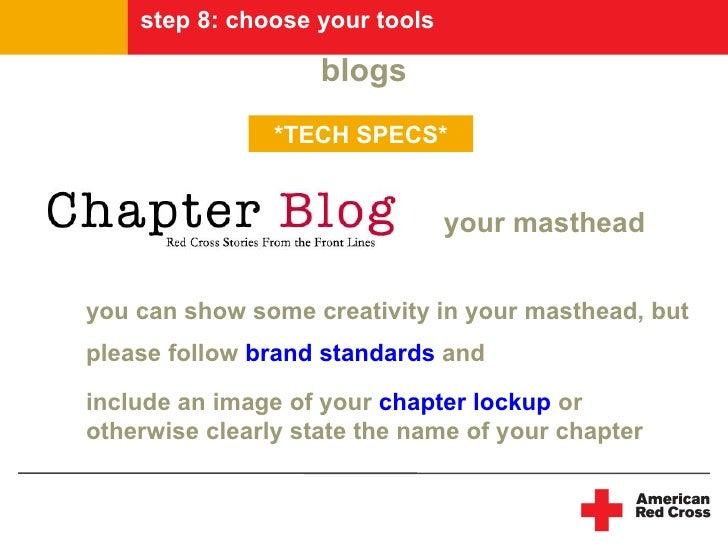 step 8: choose your tools                      blogs                 *TECH SPECS*                                   your m...