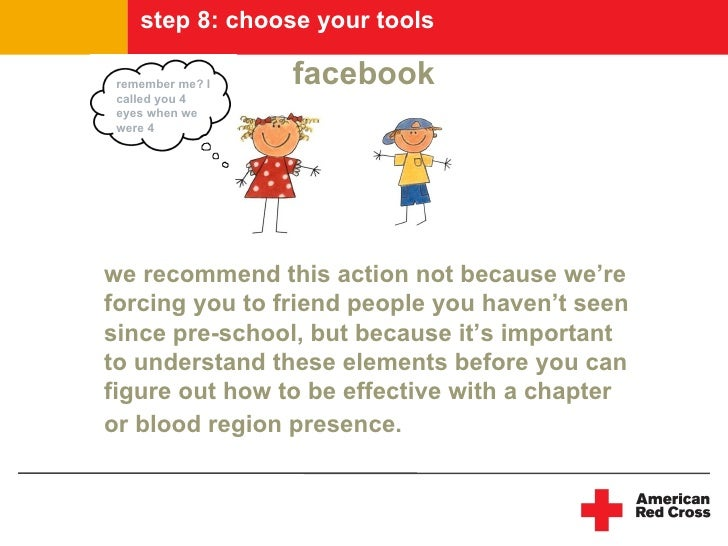 step 8: choose your tools   remember me? I   facebook  called you 4  eyes when we  were 4     we recommend this action not...