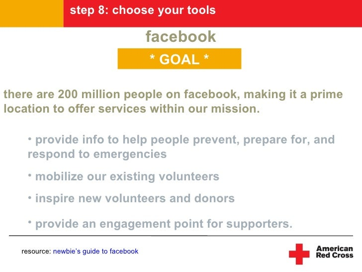 step 8: choose your tools                                            facebook                                           * ...