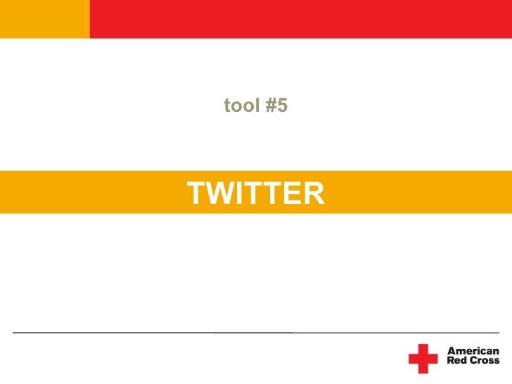 tool #5    TWITTER