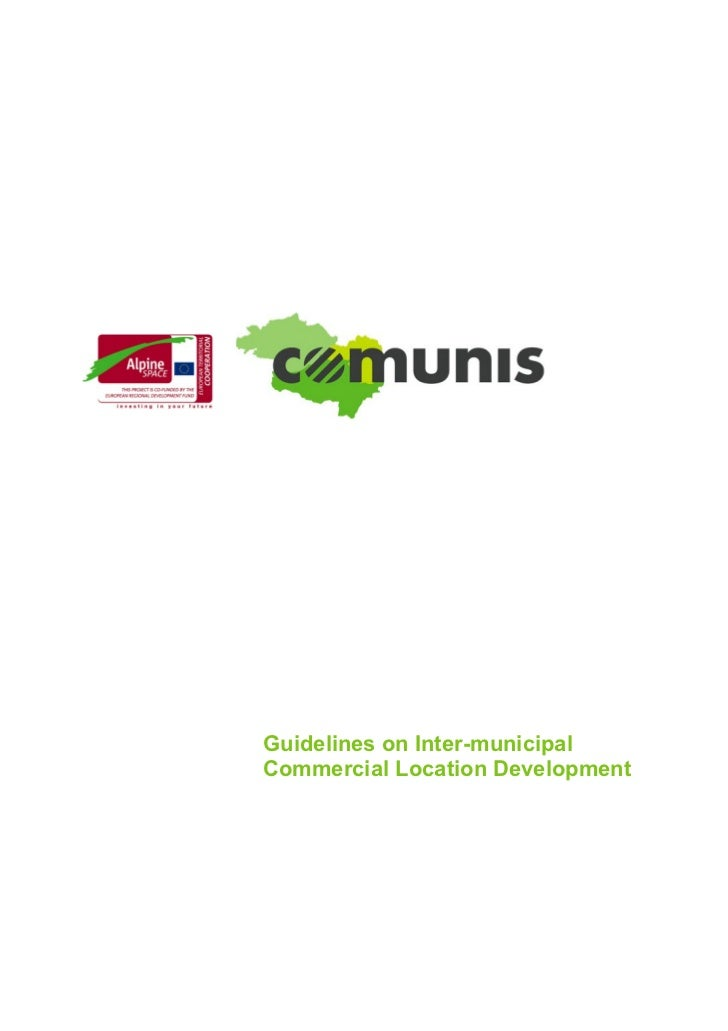 Guidelines on Inter-municipalCommercial Location Development