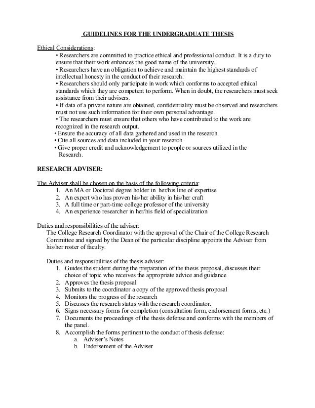 Undergrad Thesis Template