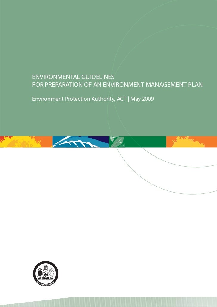 ENVIRONMENTAL GUIDELINESSFOR PREPARATION OF AN ENVIRONMENT MANAGEMENT PLAN                        VEnvironment Protection ...