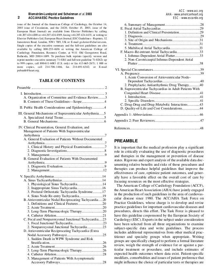 ACC - www.acc.org            Blomström-Lundqvist and Scheinman et al. 2003                                                ...