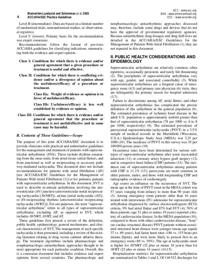 ACC - www.acc.org         Blomström-Lundqvist and Scheinman et al. 2003                                                  A...