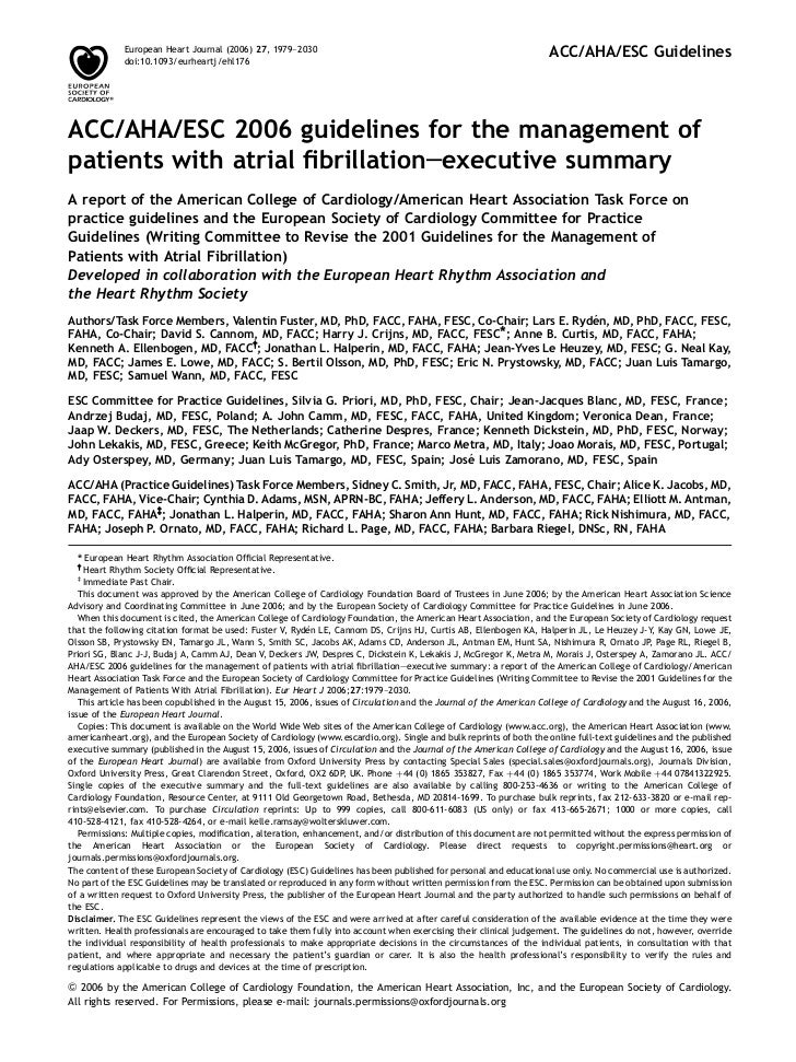 European Heart Journal (2006) 27, 1979–2030             doi:10.1093/eurheartj/ehl176                                      ...
