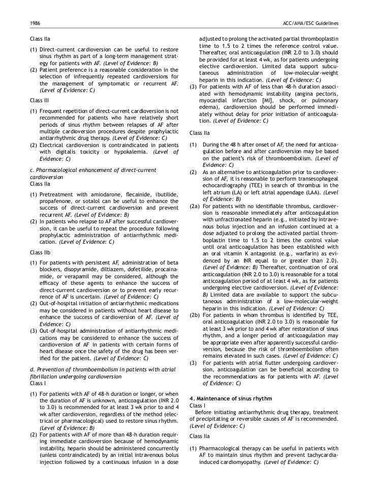 esc guidelines for anticoagulation after af ablation