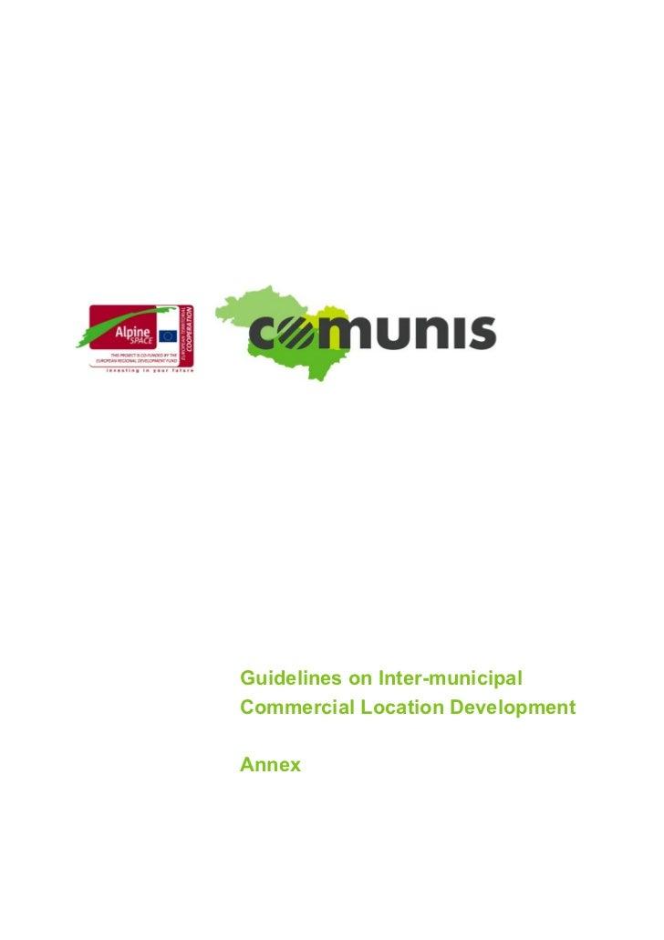 Guidelines on Inter-municipalCommercial Location DevelopmentAnnex