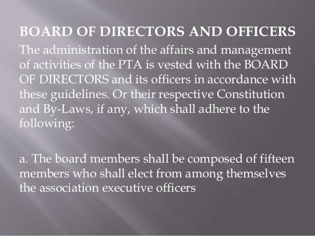 Guidelines on how to conduct HRPTA/CPTA Elections in every