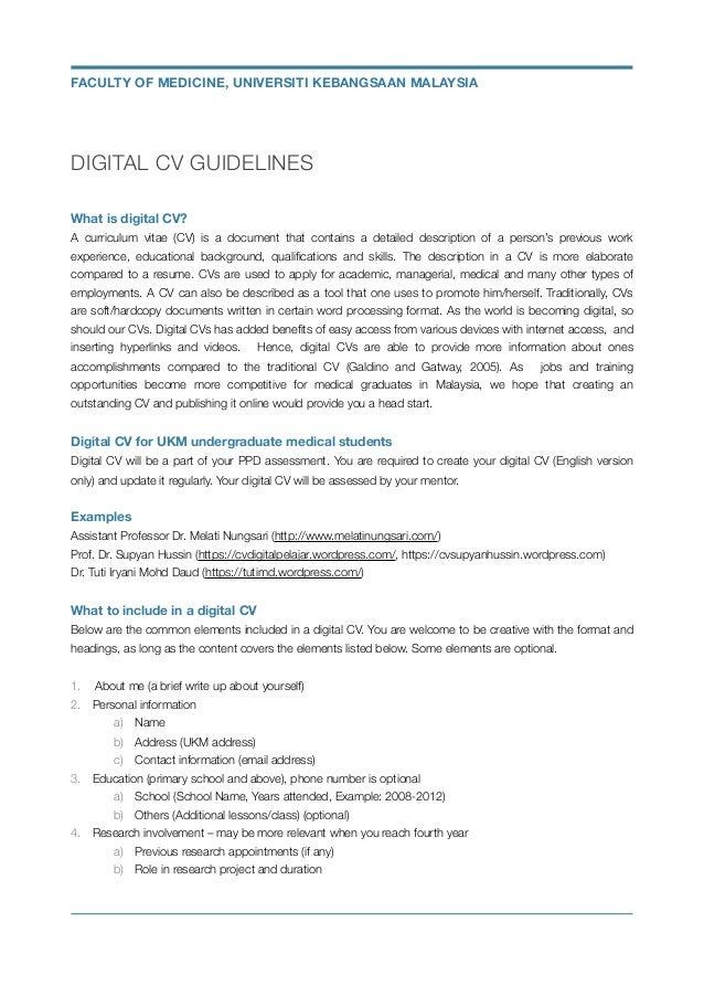 guidelines digital cv v1 0
